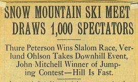 Snow Mountain Ski Meet Draws 1,000 Spectators.