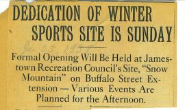 Dedication Of Winter Sports Site Is Sunday. January 23, 1938.