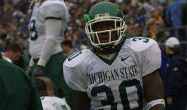 Jehuu Caulcrick with Michigan State.