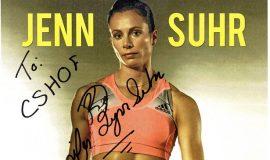Jenn Suhr autographed poster.