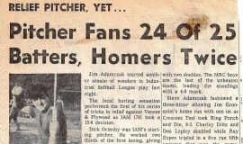 Pitcher Fans 24 of 25 Batters, Homers Twice. June 4, 1964.