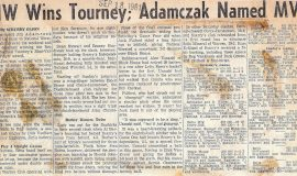 NW Wins Tourney; Adamczak Named MVP. September 18, 1961.