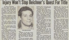 Injury Won't Stop Beichner's Quest For Title.  1986.