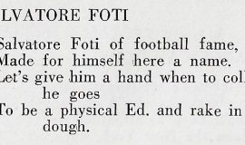 Poem from 1930 Jamestown High School yearbook.