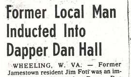 Former Local Man Inducted Into Dapper Dan Hall. 1980.