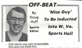 'Nice Guy' To Be Inducted Into W. Va. Sports Hall. May 4, 1984.