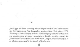 Excerpt from  In The Ballpark. Page 187.