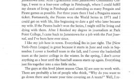 Excerpt from  In The Ballpark. Page 188.