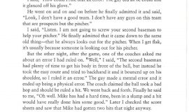 Excerpt from  In The Ballpark. Page 192.