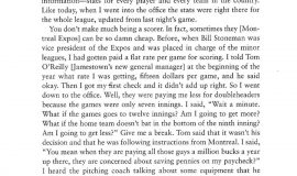 Excerpt from  In The Ballpark. Page 193.