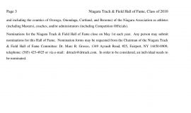 2011 Niagara Track & Field Hall of Fame press release,  page 3.
