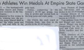 Area Athletes Win Medals At Empire State Games. Circa 1988.