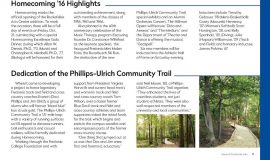 Dedication of Phillips-Ulrich Community Trail. Fall 2016.