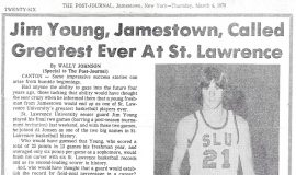 Jim Young, Jamestown, Called Greatest Ever at St. Lawrence.  March 4, 1976.