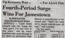 Fourth-Period Surge Wins for Jamestown. 1972.