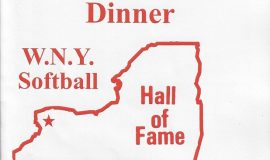 WNYSHOF induction dinner program cover.