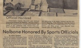 Nalbone Honored By Sports Officials. 1979.