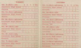 1941 JHS football schedule