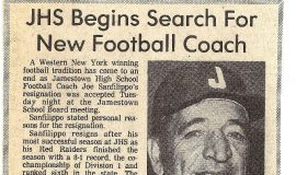 JHS Begins Search For New Football Coach.  1983.