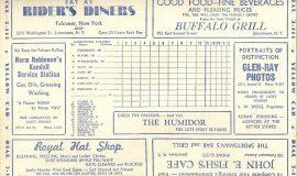 1946 Falcons scorecard.