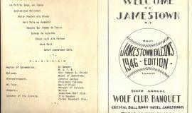 Wolf Club banquet program. April 30, 1946.