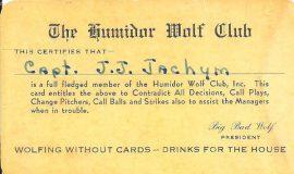 Wolf Club membership card.