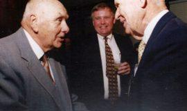 CSHOF inductees Lyle Parkhurst, Greg Peterson and John Jachym, 1998.