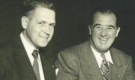 John Jachym, left, with Commissioner of Baseball Happy Chandler, 1946.