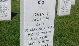 John Jachym's burial marker at Arlington National Cemetery.