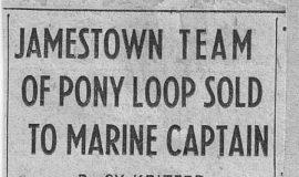 Jamestown Team Of Pony Loop Sold To Marine Captain. October 18, 1945.