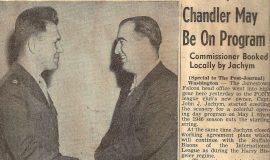 Chandler May Be On Program. November 2, 1945.