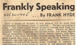 Frankly Speaking. November 20, 1945.