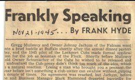 Frankly Speaking. November 21, 1945.