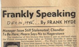 Frankly Speaking. December 10, 1945.