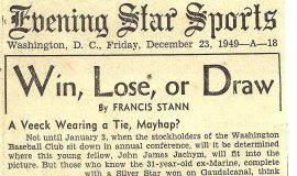 Win, Lose, or Draw. December 23, 1949.