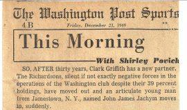 This Morning.  December 23, 1949.