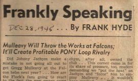 Frankly Speaking. December 28, 1945.