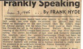 Frankly Speaking. December 3, 1945.