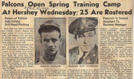 Falcons Open Spring Training Camp At Hershey Wednesday; 25 Are Rostered. April 5, 1946.