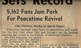 Sets Record. May 2, 1946.