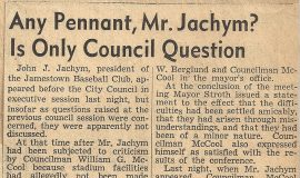 Any Pennant, Mr. Jachym? Is Only Council Question. July 30, 1946.