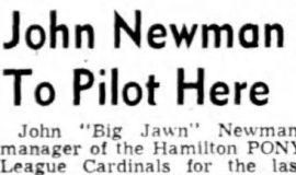 John Newman To Pilot Here. February 17, 1948.