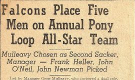 Falcons Place Five on Annual Pony Loop All-Star Team. 1941.