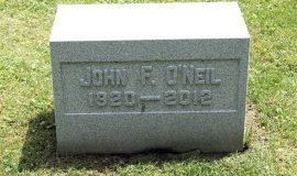 Burial marker of John O'Neil.