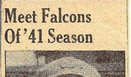 Meet Falcons Of '41 Season. 1941.