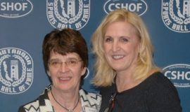CSHOF inductees Deb Palmer and Jolene Nagel, 2017.