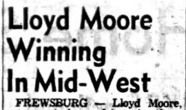 Lloyd Moore Winning In Mid-West. August 5, 1953.