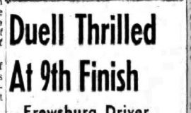 Duell Thrilled At 9th Finish. September 2, 1958.