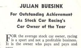 Julian Buesink - Car Owner of the Year. March 1951