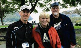 Justin Johnson and his parents,  Dori and Bob.